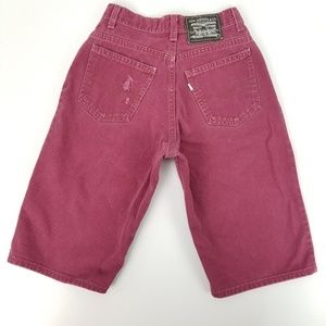 """Vintage 90s Levis Extremely Big Jean Shorts 24x13"""""""